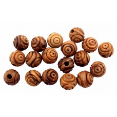Carved Round Beads 10mm (70 qty) : Art# CR03S