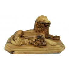 The Lion and the Lamb - Olive wood : Art# G720