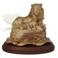 The Lion & the Lamb with prayer small : Art # G722