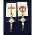 St. Benedict Crucifix - red or green : Art# N1444